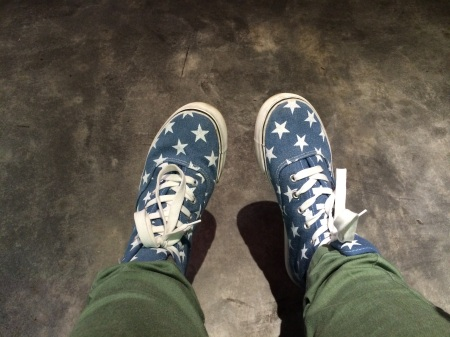 cool blue star sneakers