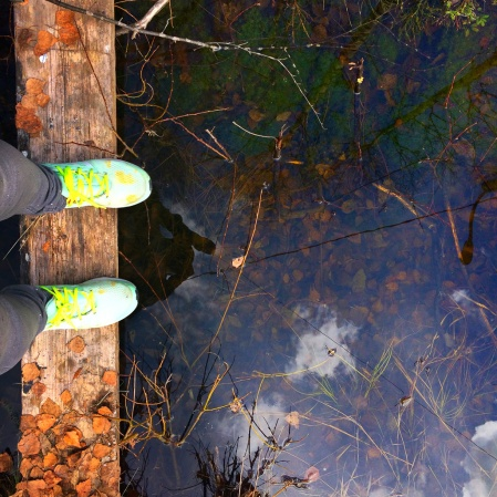 pretty sneakers and Finnish nature
